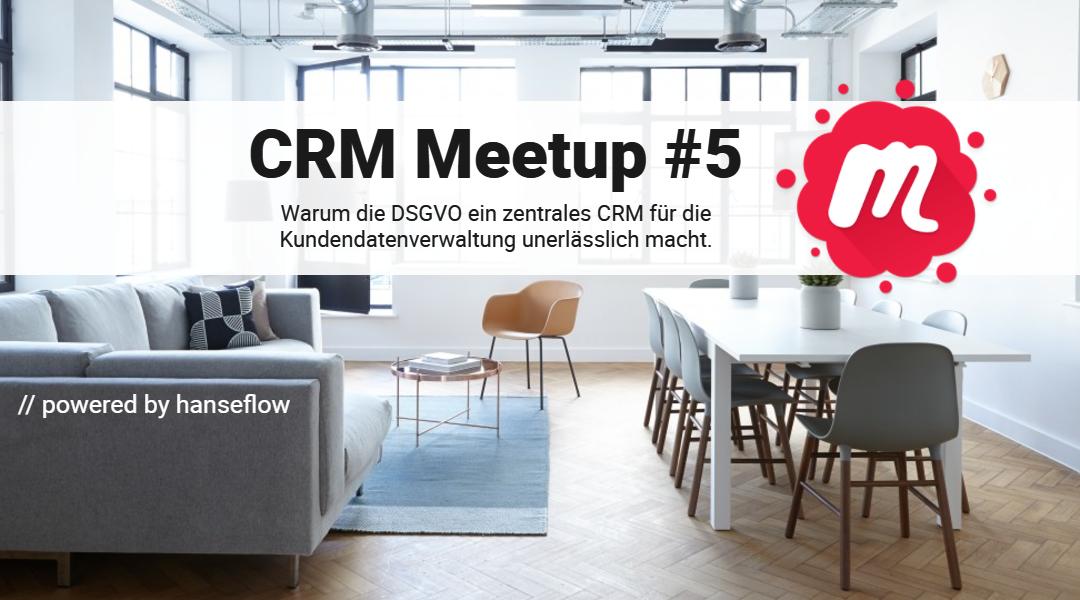 CRM Meetup am 20.02. zum Thema DSGVO