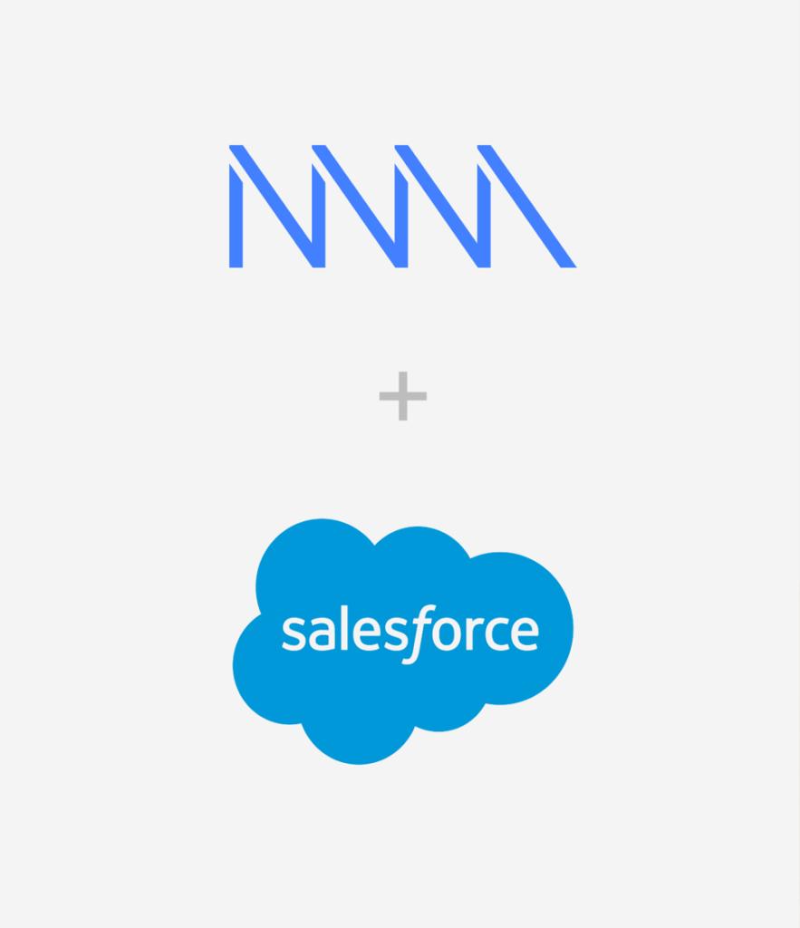 Logos von NewVoiceMedia und Salesforce
