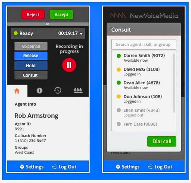 Dashboard zeigen sofort relevante Daten zu Anrufern.